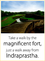 Take a walk by the magnificent fort, just a walk away from Indraprastha.